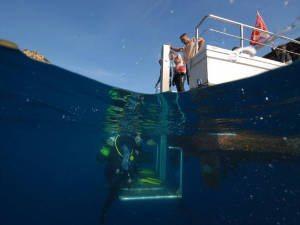 dive platform on euro divers spain boat