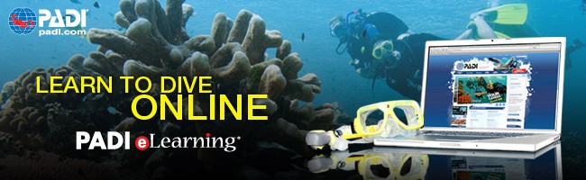 PADI elearning scuba diving